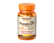 SUNDOWN NATURALS VITAMINA D3 (CHOLECALCIFEROL) 400 UI 100 CAPS